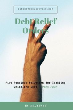 Debt Relief Orders - Five Possible Solutions for Tackling Crippling Debt: Part Four - Bunchy the Budgeteer (Hand in the victory sign)