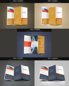 Trifold & Z-fold Mockup Pack-50% OFF by Saptarang on Creative Market