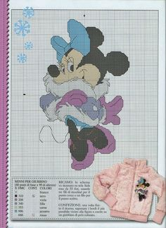 Minnie Mouse Christmas Free chart w/photo