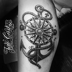 33 Best Compass And Anchor Tattoo Images Anchor Tattoos Anchor