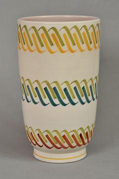 Poole pottery Freeform vase, rope design by robmcrorie, via Flickr