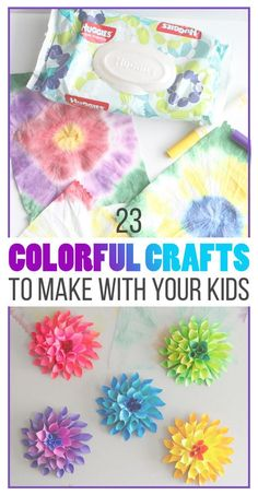 Change the routine with kids and try these super fun colorful crafts!