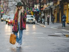 Light Jeans, Plaid Scarf, Brooklyn, Kimono Top, Nyc, Instagram Posts, Sweaters, Color, Vintage