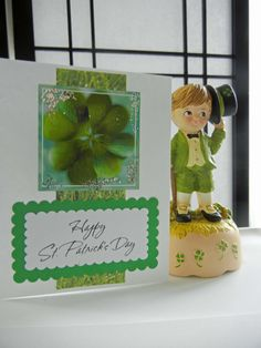 St. Patrick's Day Card Handmade St. Patty's by TheSandlapperShop