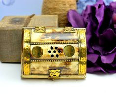 Afghan bone jewelry box,Prayer box,Afghan Vintage Jewelry Box,Tribal Ring box,Brass Jewelry box,jewelry holder,Gift for her,Free shipping by ZsTribalTreasures on Etsy