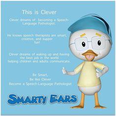 Be smart like Clever #speechtherapy #slpeeps #ashaigers #spechpathology #smartyears #fonoaudiologia