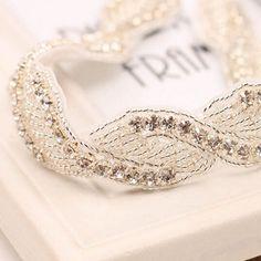 rhinestone wedding bride headband hair accessory EWAHP049