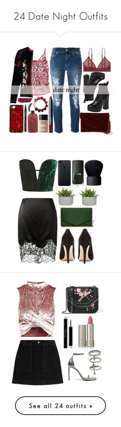 """""""24 Date Night Outfits"""" by polyvore-editorial ❤ liked on Polyvore featuring waystowear, datenightoutfits, Miss Selfridge, Boohoo, 7 For All Mankind, Shellys, BP., NARS Cosmetics, MAKE UP FOR EVER and LoveStories"""
