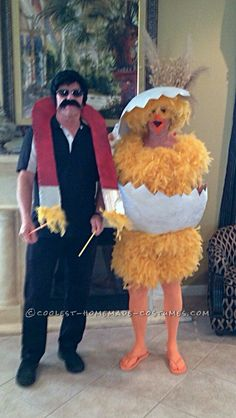 Funny Chick and Chick Magnet Couple Halloween Costume… Coolest Halloween Costume Contest