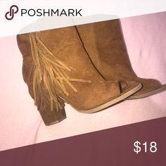 Fringe Boots Gently worn fringe booties Shoes Ankle Boots & Booties