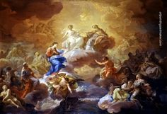 Corrado Giaquinto Holy Trinity with the Virgin and the Saints, painting Authorized official website