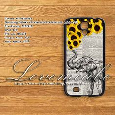 Adorable Phone Case with an Elephant and Flowers. It's so cute for the summer