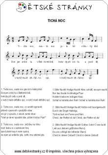 Tichá noc Sheet Music, Education, Onderwijs, Learning, Music Sheets
