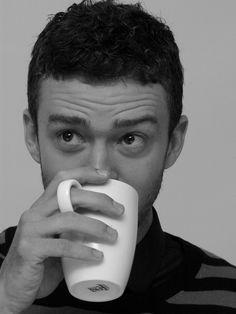 Just drinkinh his coffee....