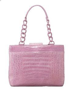 1d7fecb1ce Nancy Gonzalez - Crocodile Small Chain-Strap Tote Bag Pink Gloves
