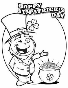leprechaun coloring pages st patricks day appetizers | Leprechaun Coloring Page #2 | Coloring, Activities and For ...