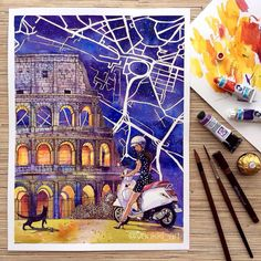 My impression of Rome before I visit it 🙃. Do you see this city that way?  Watercolor, ink, 30*40 cm ✨//✨ Моё впечатление о Риме пока я там ещё не побывала 🙃. А вы его таким видите? .  .  #urbansketch #sketch #instaart #architecture #ink #скетч #рисунок #иллюстрация #графика #sketchaday #drawing #illustration #archsketch #sketching  #graphic #archdrawing #arch #archdaily #graphicart #archisketcher #rome #рим #arch_more #architecturelovers #arqsketch #watercolor #topcreator #acuarela…