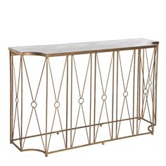 Aidan Gray Marlene Console Table with Antique Mirror | Vintage Style Home Furniture Decor Accessories