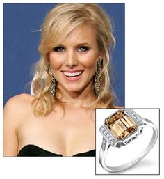 Kristen Bell and Dax Shepard make marriage seem like fun. #Jewelry #Rings #Engagement #Diamonds