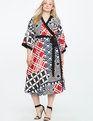 Dropped Shoulder Kimono Dress KALEIDOSCOPE DREAMS