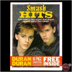 Smash Hits 8 December 1983 - Duran Duran - I had magazine covers featuring Duran Duran around the top of my bedroom walls, something like a frieze. Nick Rhodes, Amazing Songs, John Taylor, New Romantics, Music Magazines, Vintage Magazines, Love Songs Lyrics, Vintage Music, Vintage Toys
