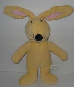 Corduroy Rabbit Plush Yellow Pottery Barn Kids Bunny Toy Lovey Adjustable Ears #PotteryBarnKids