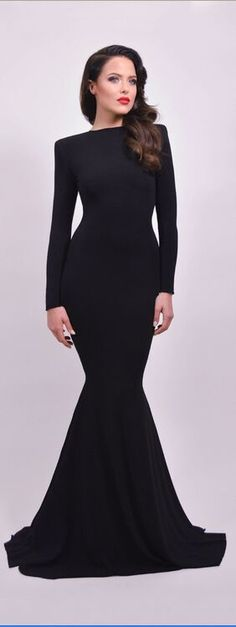Black Dresses,Party Dresses,Prom Dresses With Sleeves, Newest Long Mermaid Prom Dresses,Sexy Sheath Evening Gowns,Open Back Evening Dresses,Long Sleeves Black Prom Dress,Prom Dresses For Teens,Charming Party Prom Dresses