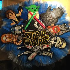 Star Wars perler bead wreath