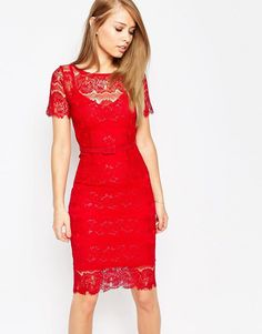 Image 1 ofBody Frock Lisa Sculpting Lace Dress