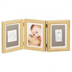 Baby Double ART PRINT Natural. Un marquito para inmortalizar la huella del pie y de la mano del bebé