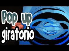 Como hacer una tarjeta pop up giratoria - YouTube