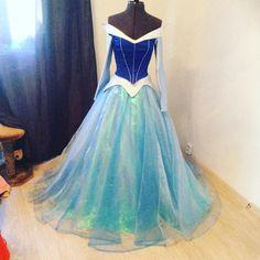 Items similar to Sleeping Beauty Princess Aurora Cosplay Dress on Etsy