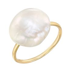 Tiffany & Co. Natural Freshwater Pearl Ring | See more rare vintage Solitaire Rings at http://www.1stdibs.com/jewelry/rings/solitaire-rings