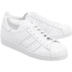 ADIDAS ORIGINALS Superstar 80S Metal Toe // Sneakers with metal toe... (1.897.255 IDR) ❤ liked on Polyvore featuring shoes, sneakers, white shoes, 80s footwear, 1980s shoes, cap toe shoes and adidas originals