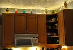 lighting above cabinets. Love This - Last Year I Used Christmas Lights On Top Of My Cabinets Lighting Above B