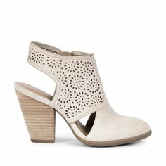 Torri, ♥ Suede Bootie, Color: Natural