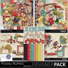 """Paisley is swirled patterns of curved shapes, and evokes a nostalgic feeling.   """"Nostalgia is a file that removes the rough edges from the good old days."""" Doug Larson   Each item in the Paisley Ruffles Collection is available separately for your convenience; however, the bundle is your best value."""