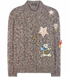 Cashmere sweater with appliqué | Dolce & Gabbana