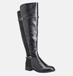 Shop over-the-knee, wide width boots for nylon for added comfort and fit like… Wide Width Shoes, All About Shoes, Latest Shoes, Spring Shoes, Riding Boots, Women's Boots, Over The Knee Boots, Plus Size Outfits, Plus Size Fashion