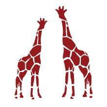 A new species of giraffe in colors just Discovered! You have to see it to believe! :-) Giraffe wall decal in red - perfect to your kids room!