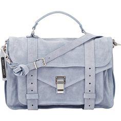 Proenza Schouler Women's PS1 Medium Shoulder Bag ($709) ❤ liked on Polyvore featuring bags, handbags, shoulder bags, blue, pocket purse, shoulder handbags, zipper flap purse, shoulder strap bag and zipper handbag