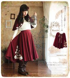 Favorite | Rakuten Global Market: Skirt length MIME MIME found in story circular skirt Favorite * original Red Riding Hood ° +... a Girly waist Ribbon and lace motif decoration circular skirt.