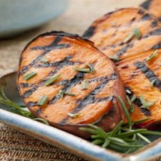 Grilled Sweet Potatoes - These flavourful sweet potatoes make a delicious side dish to any meal, and taste even better thanks to the grilled goodness of being on the BBQ!
