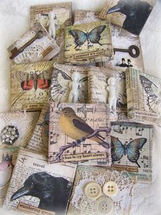 Several Original Collages... Mini Art~!~  by QueenBe
