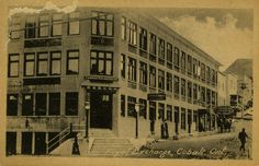 Royal Exchange Building, corner of Silver and Prospect. - The Cobalt Adventure Family Roots, Small Towns, View Image, Cobalt, Ontario, Corner, Photograph, Adventure, Building