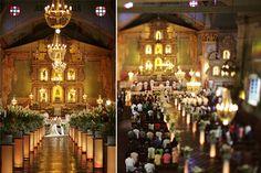 Baclayon Church's altar and aisle