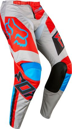 Fox MX Pants 180 Falcon Grey/Red 2017