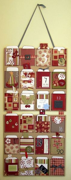 Advent calendar with cards that suggest activities.