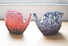 Teapots 3 D printed
