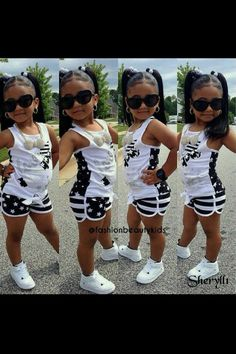Children and Young Cute Kids Fashion, Little Girl Fashion, Toddler Fashion, Toddler Outfits, Outfits Niños, Kids Outfits, Cute Little Girls Outfits, Beautiful Black Babies, Toddler Girl Style